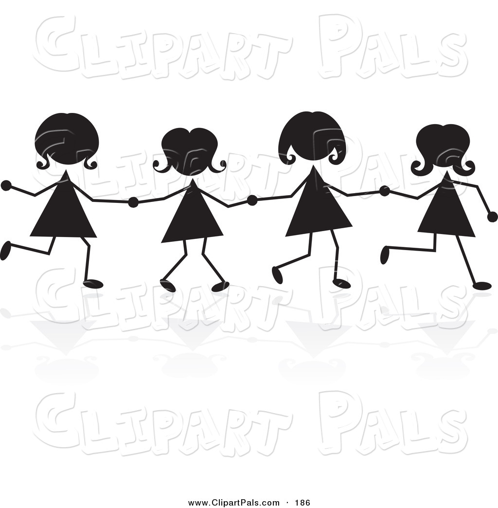 4 clipart sibling. Sisters cliparts holding hands