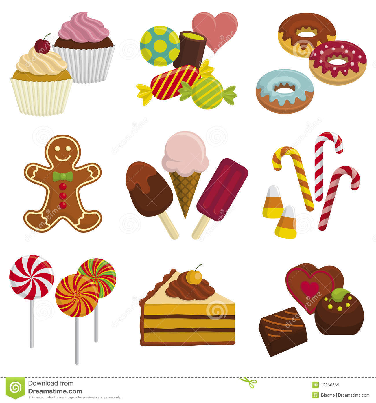 Foods station . 4 clipart sweet