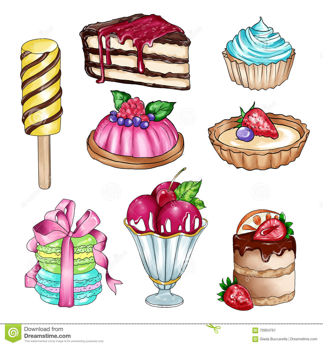 Food station . 4 clipart sweet