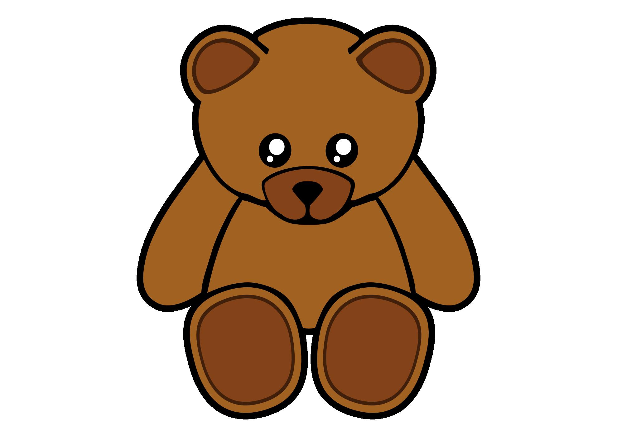 Clipart bear easy. Teddy clip art on