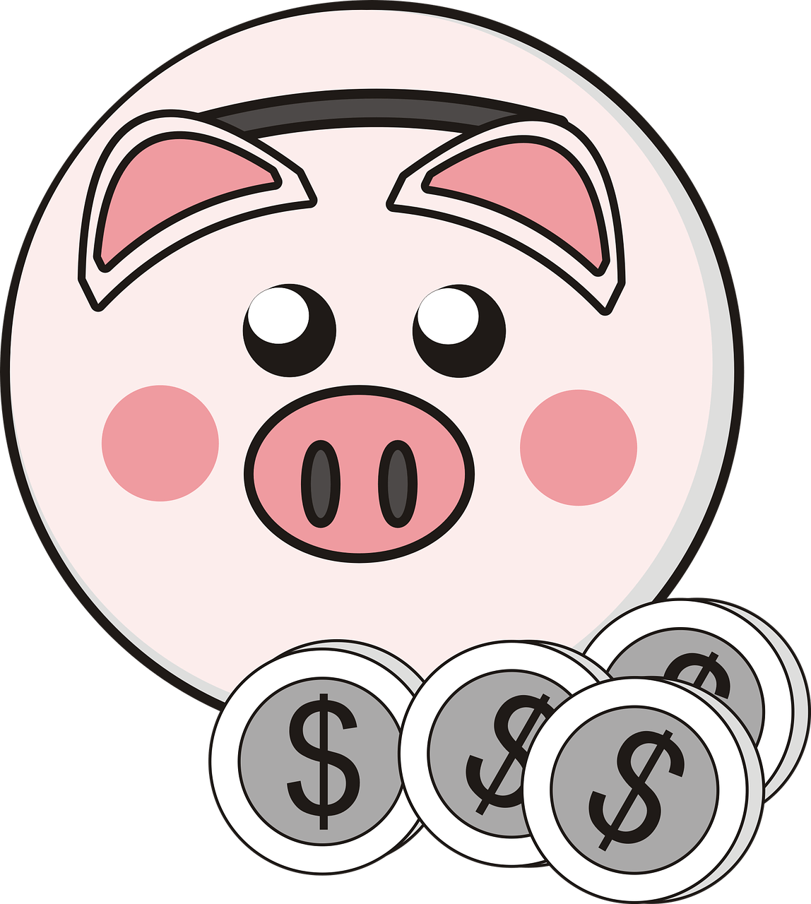 Piggy bank coins png. 4 clipart transparent