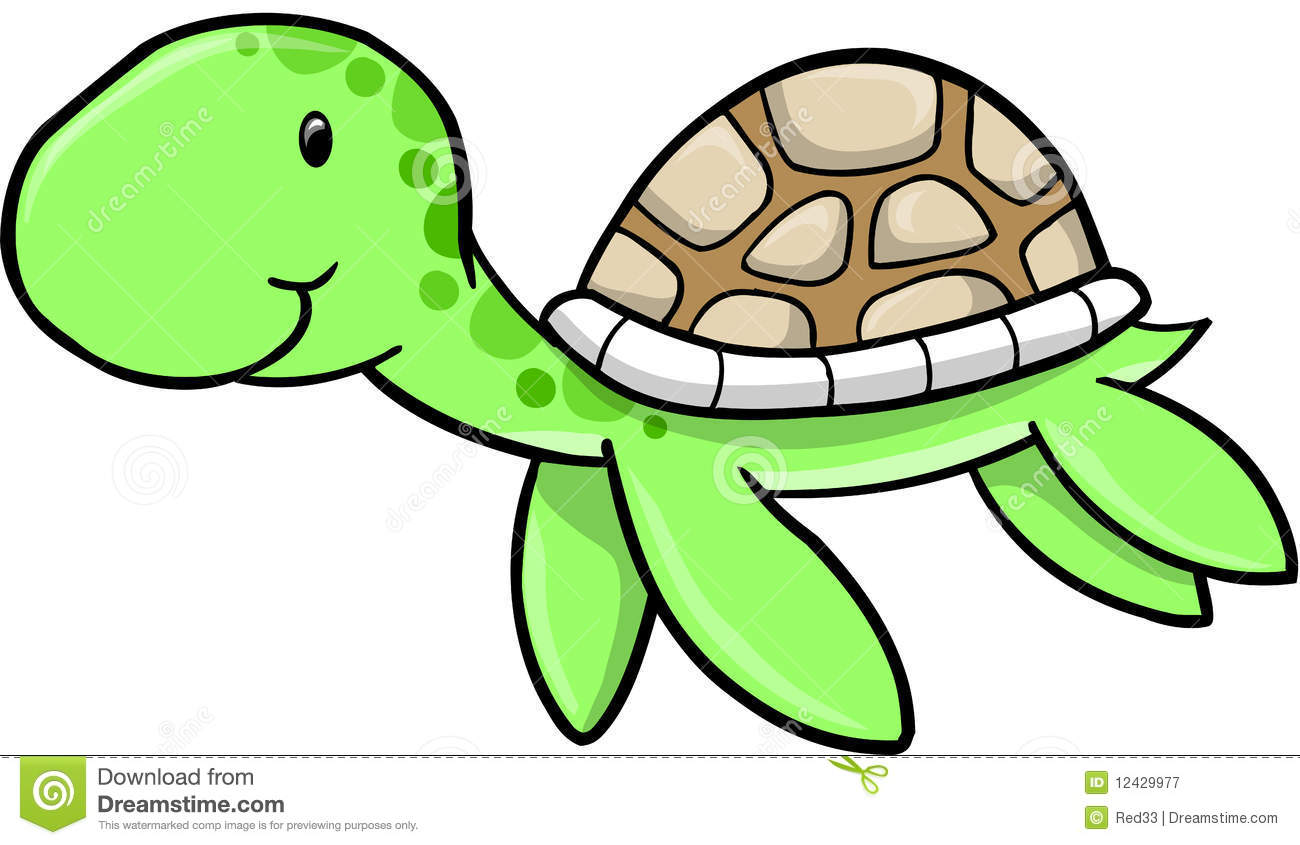 Cute sea station . 4 clipart turtle