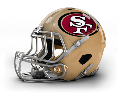 San francisco ers . 49ers helmet png