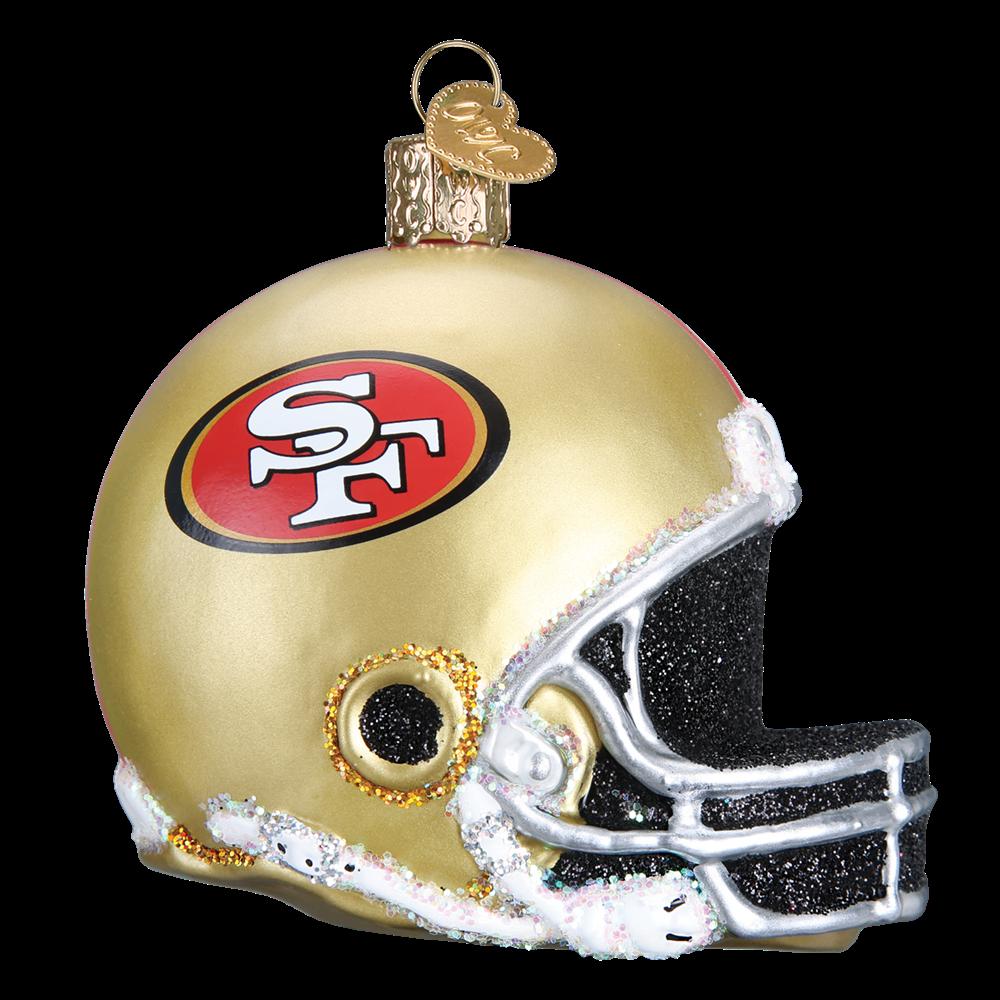 Old world christmas san. 49ers helmet png