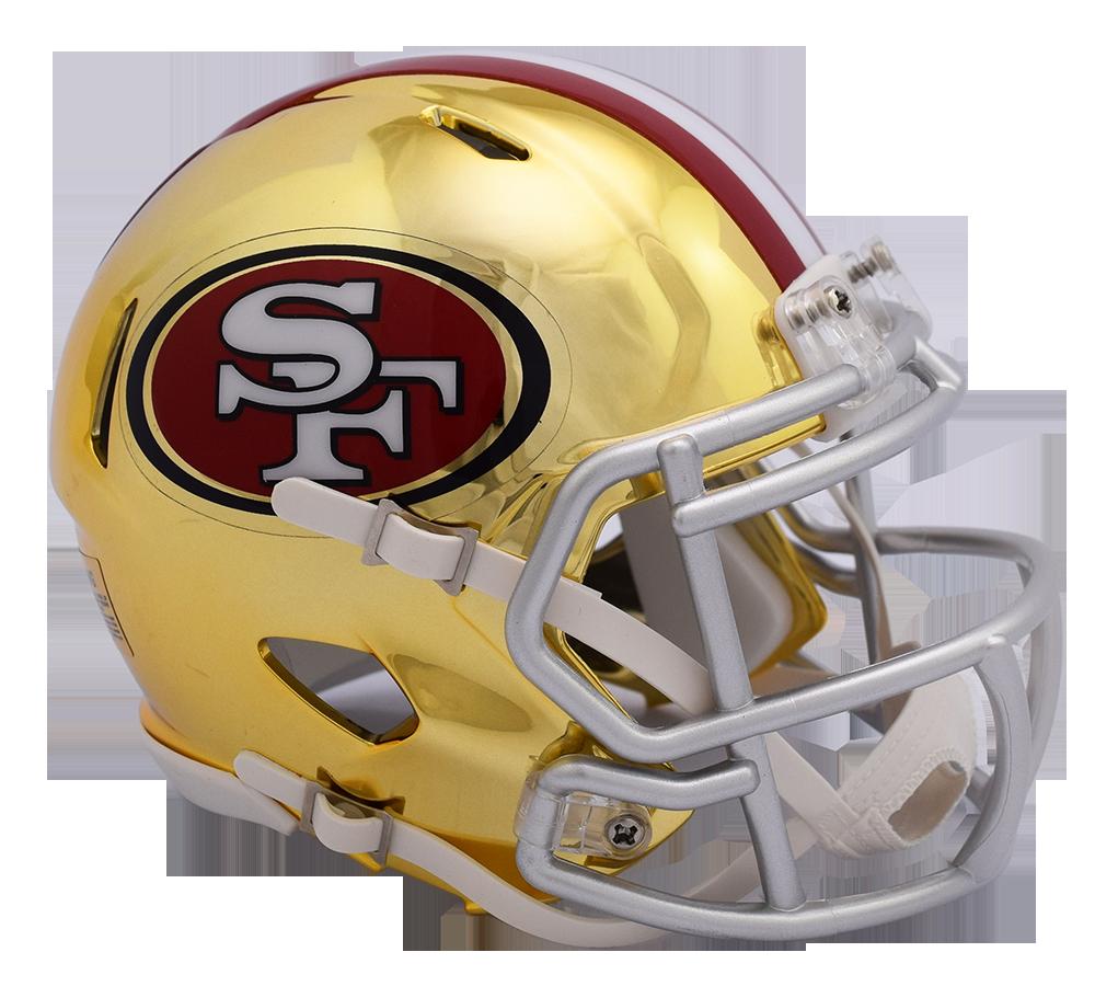 San francisco ers chrome. 49ers helmet png