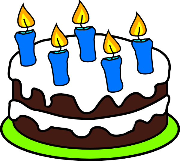Cake candles clip art. 5 clipart 5 candle