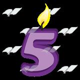 Abeka clip art five. 5 clipart 5 candle