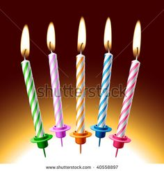 Birthday clip art free. 5 clipart 5 candle