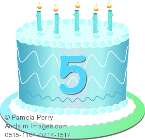 5 clipart 5 candle. Clip art image of