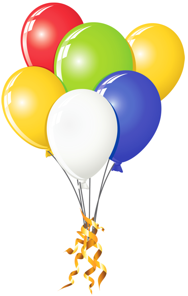 Balloon clipart design. Transparent balloons multi color
