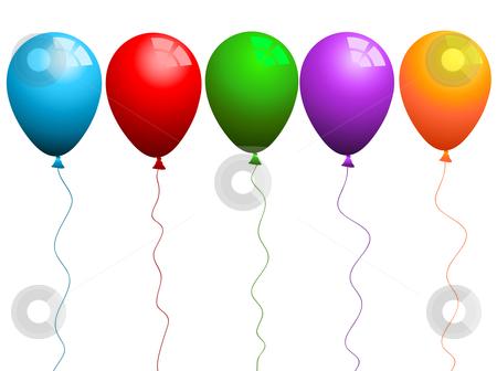 5 clipart balloon. Coloured balloons stock vector
