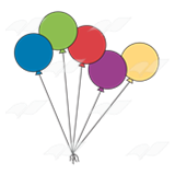 Abeka clip art bunch. 5 clipart balloon