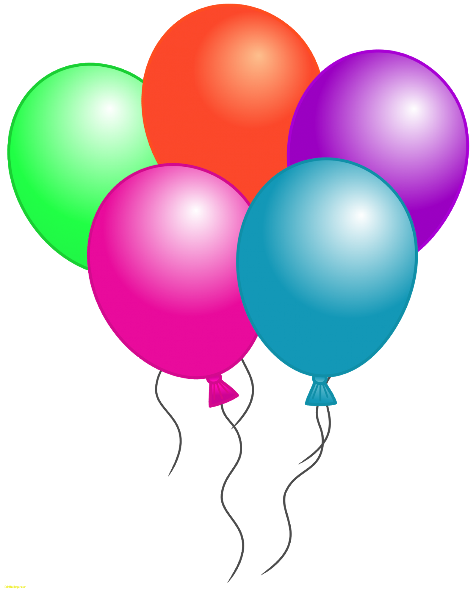 5 clipart balloon. Balloons images birthday free