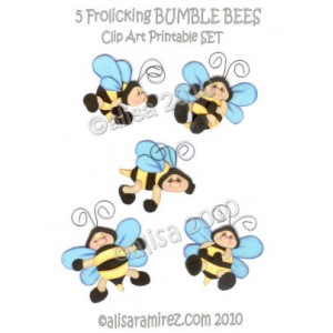 Alisa s little pieces. 5 clipart bee
