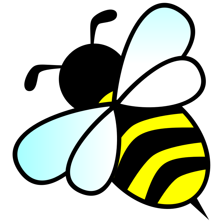 Medium image png . Beautiful clipart bee