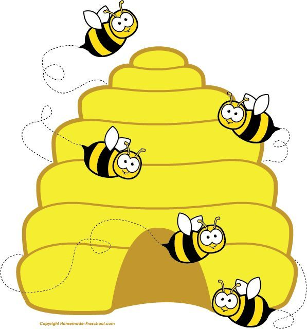 Beehive clipart cartoon. Honey bee image flying