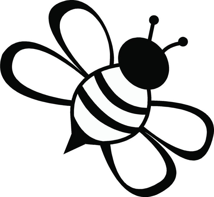 Bee ideas only on. Bees clipart black and white