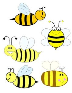 Bumble template printable templates. 5 clipart bee