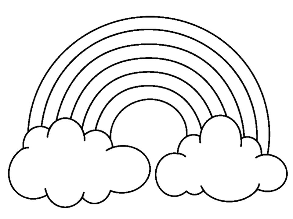 5 clipart black and white. Rainbow nice clip art