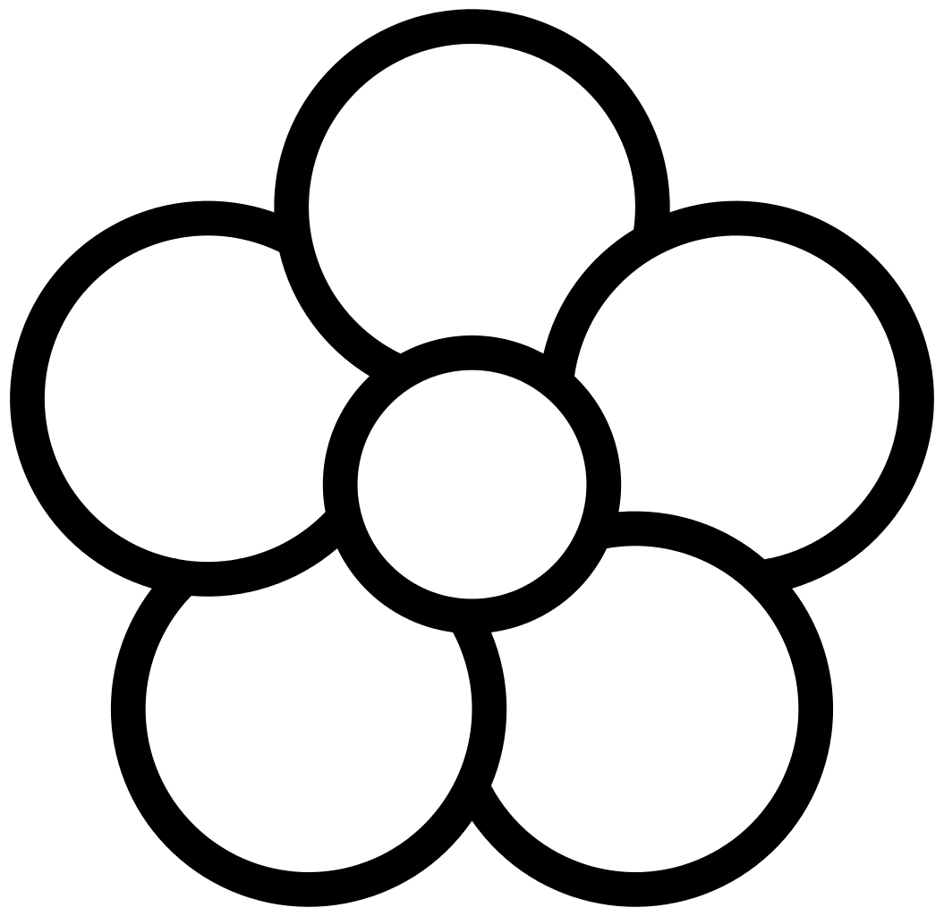 5 clipart black and white. Flower shop of cliparts