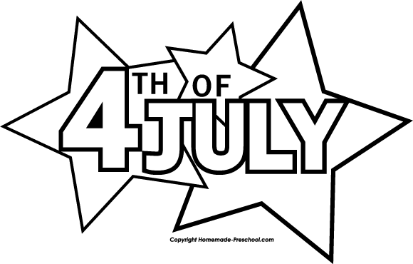 July th free download. 5 clipart black and white