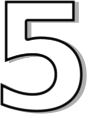 5 clipart black and white.  collection of number
