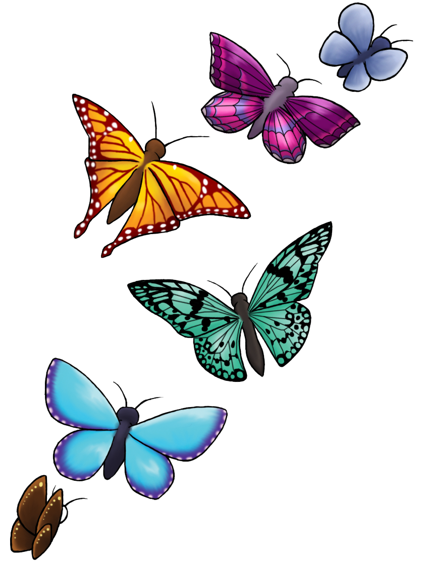 5 clipart butterfly. Download tattoo designs png