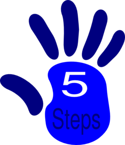 5 clipart clip art. Five step at clker