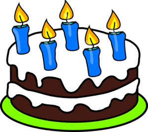 5 clipart clip art. Cake candles at clker