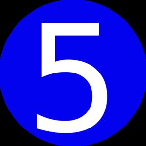 5 clipart clip art. Number