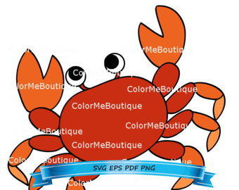 5 clipart crab. Etsy