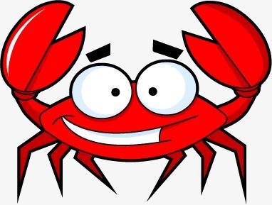 Cartoon crabs seafood png. 5 clipart crab