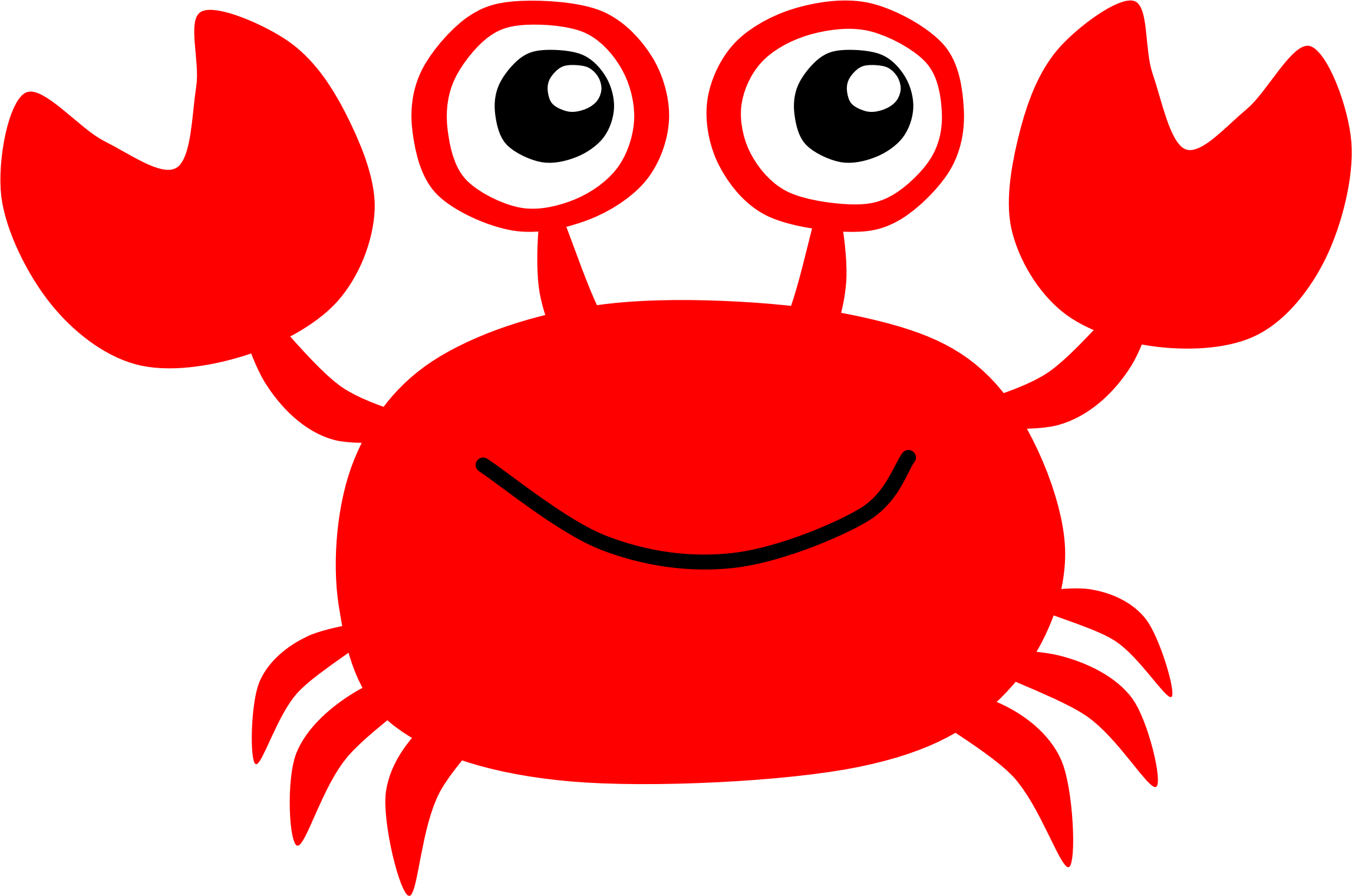 5 clipart crab. Red by scout a