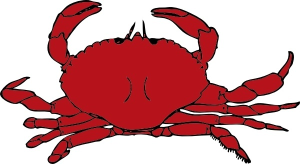 5 clipart crab. Vector for free download