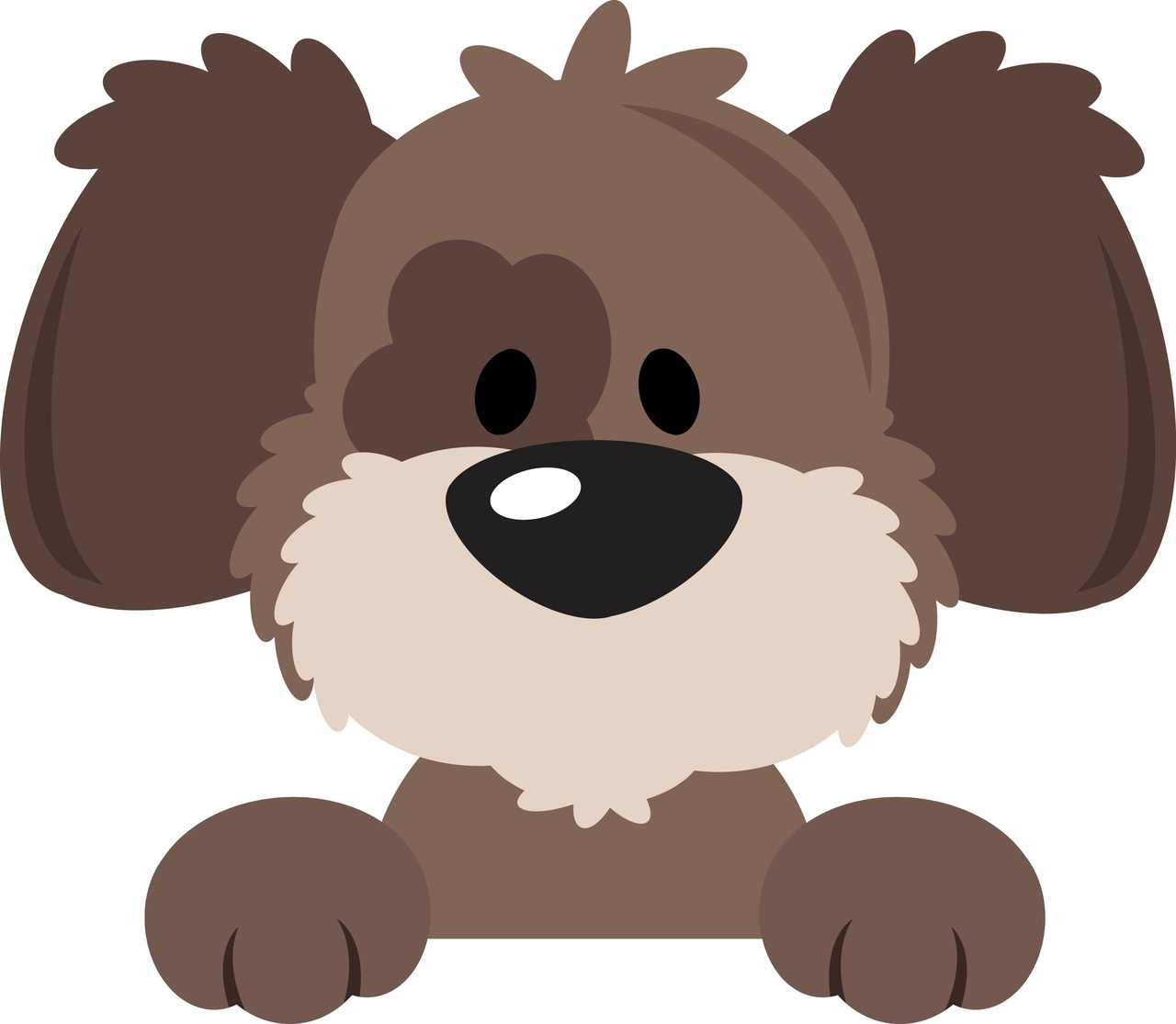 5 clipart cute. Dog station