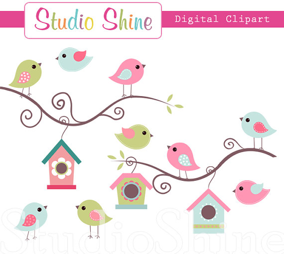 Birds station . 5 clipart cute