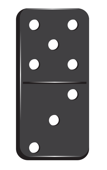 5 clipart domino. Station
