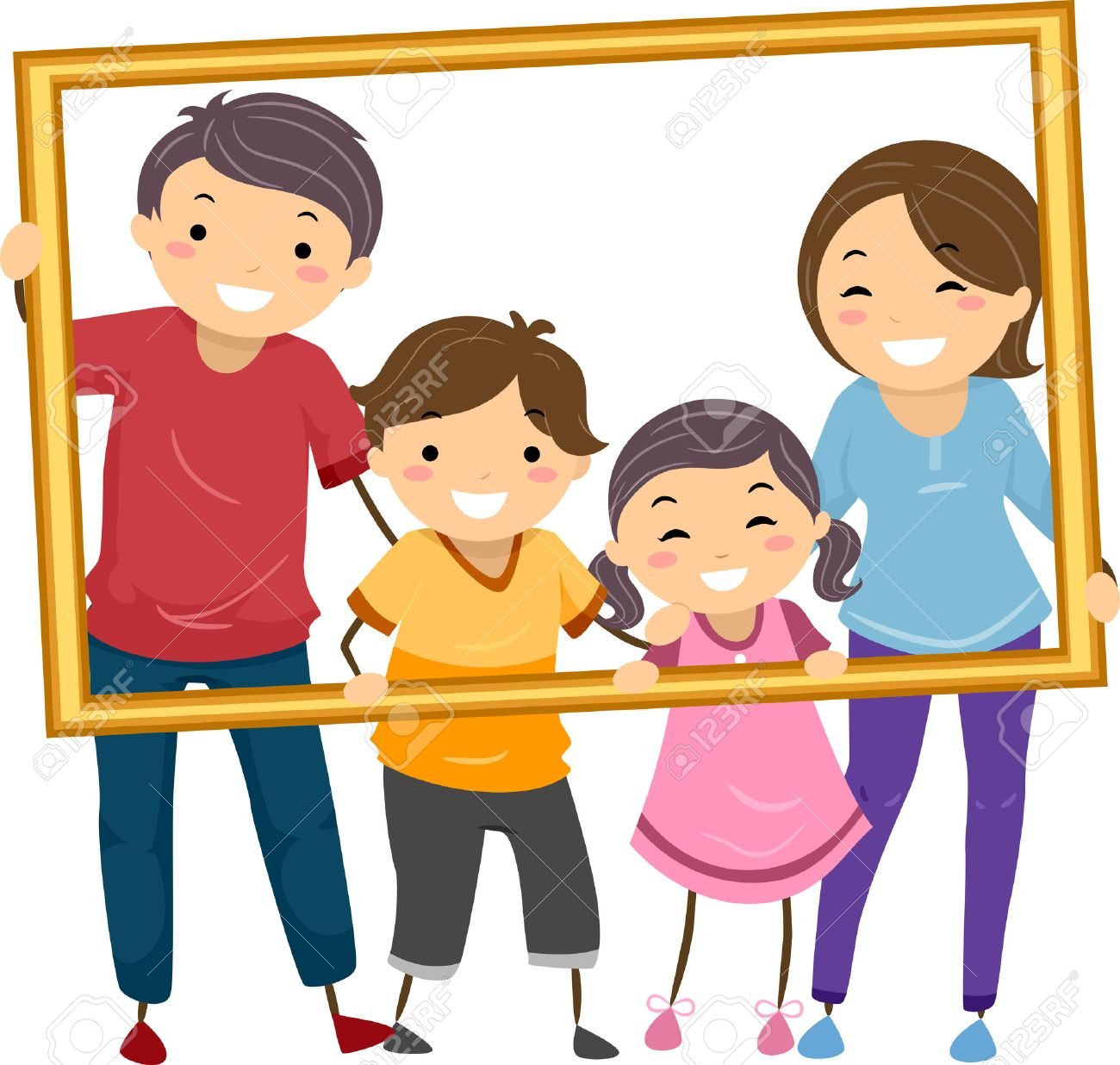 Picture frame station . 5 clipart family