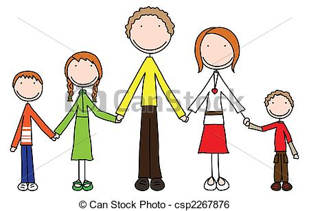 Of five . 5 clipart family
