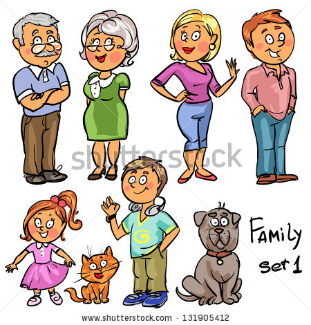 Members of the station. 5 clipart family member