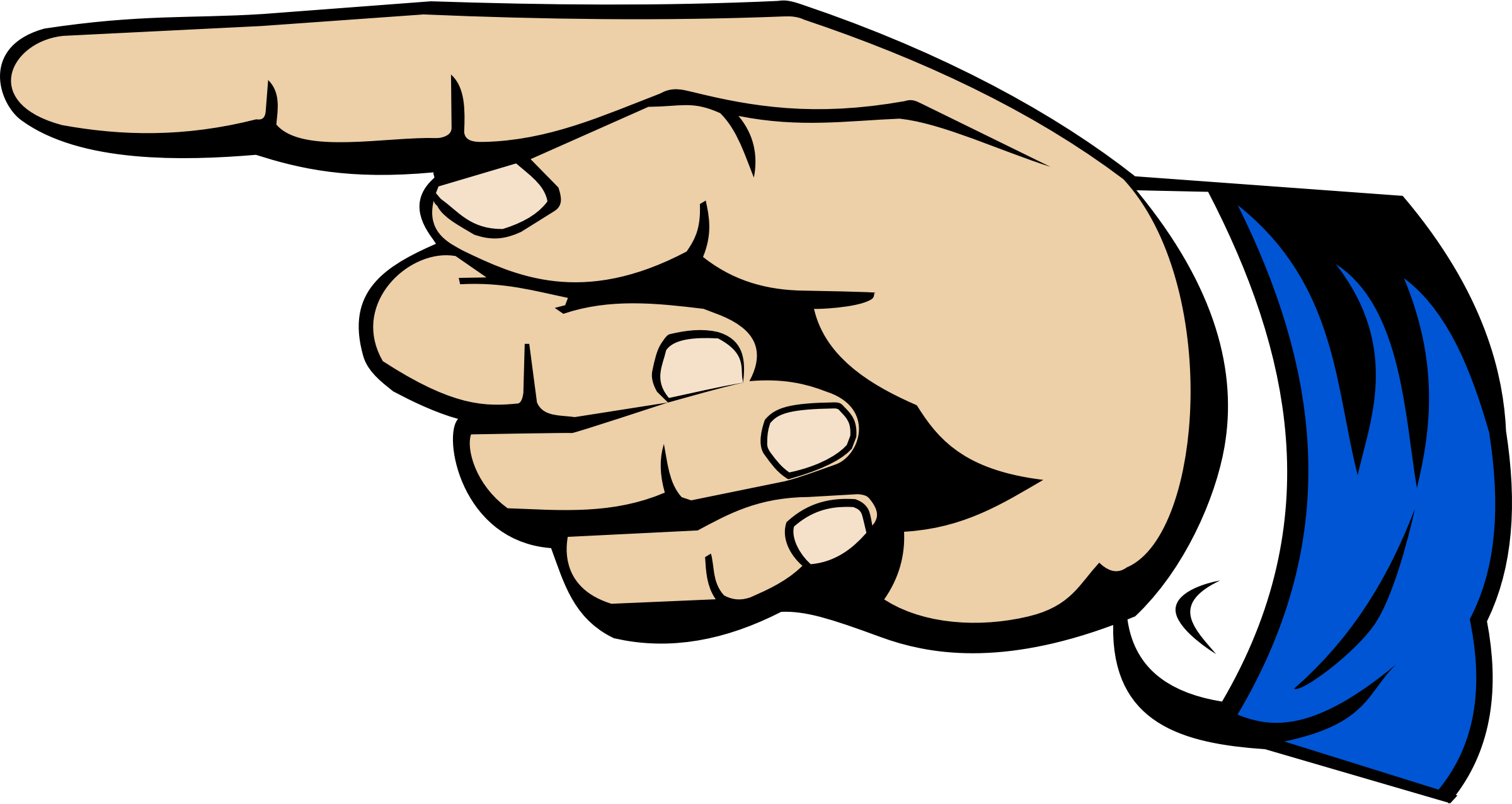 Pointing finger big image. Thumb clipart anytime