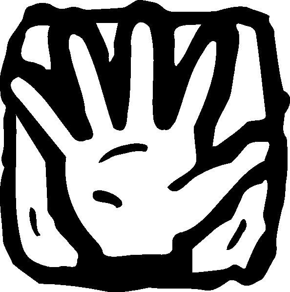 Five countdown clip art. Finger clipart black and white