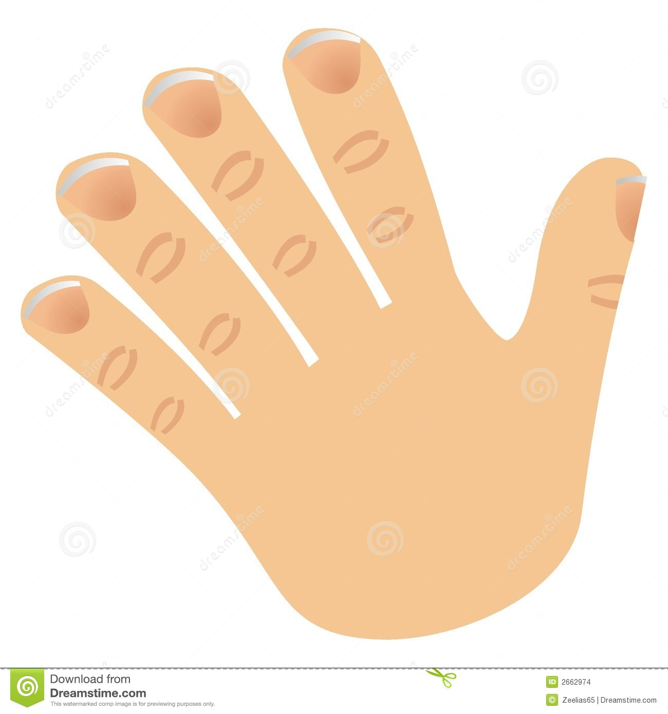 collection of five. 5 clipart finger