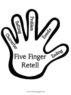5 clipart finger. Free retell poster by
