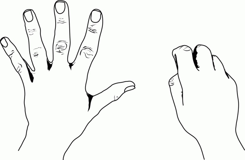 5 clipart finger. Fingers black and white