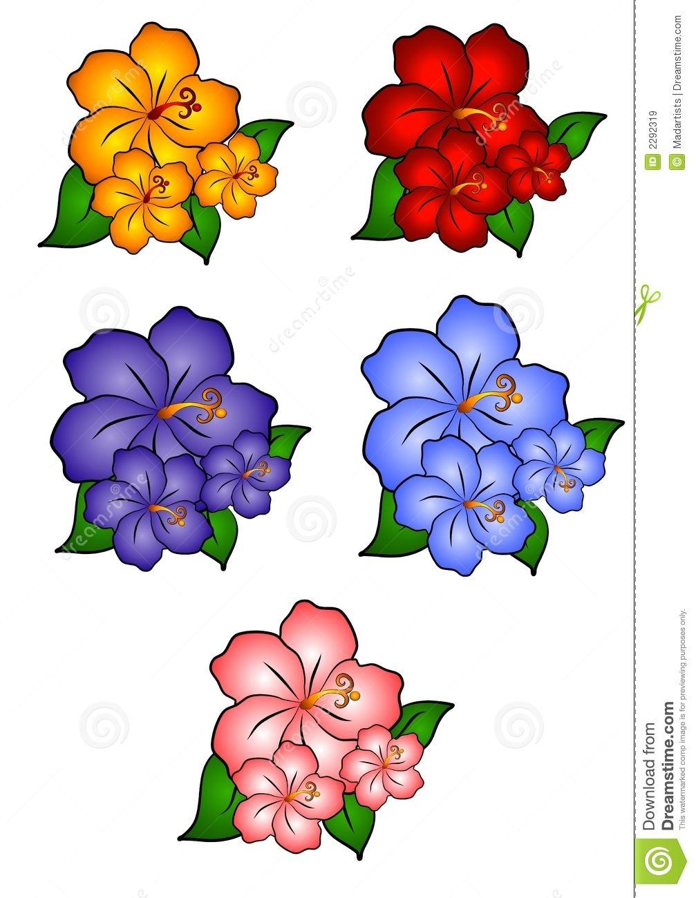Flower clip art free. Bouquet clipart hibiscus