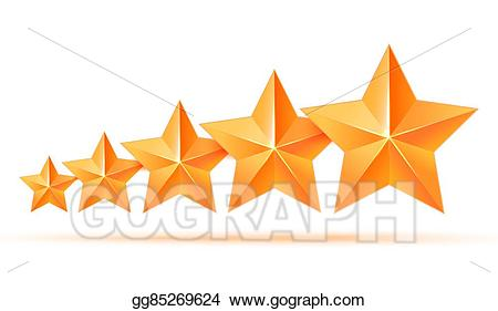Drawing five d stars. 5 clipart gold