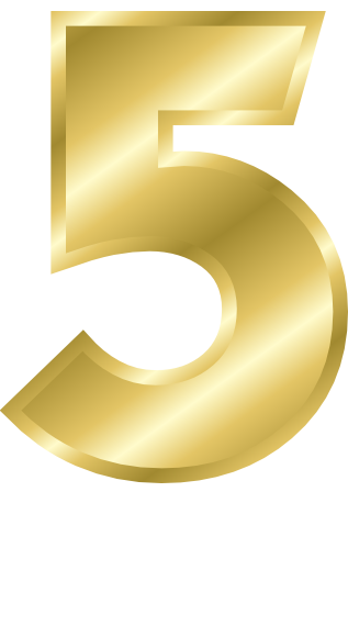 Number signs symbol alphabets. 5 clipart gold