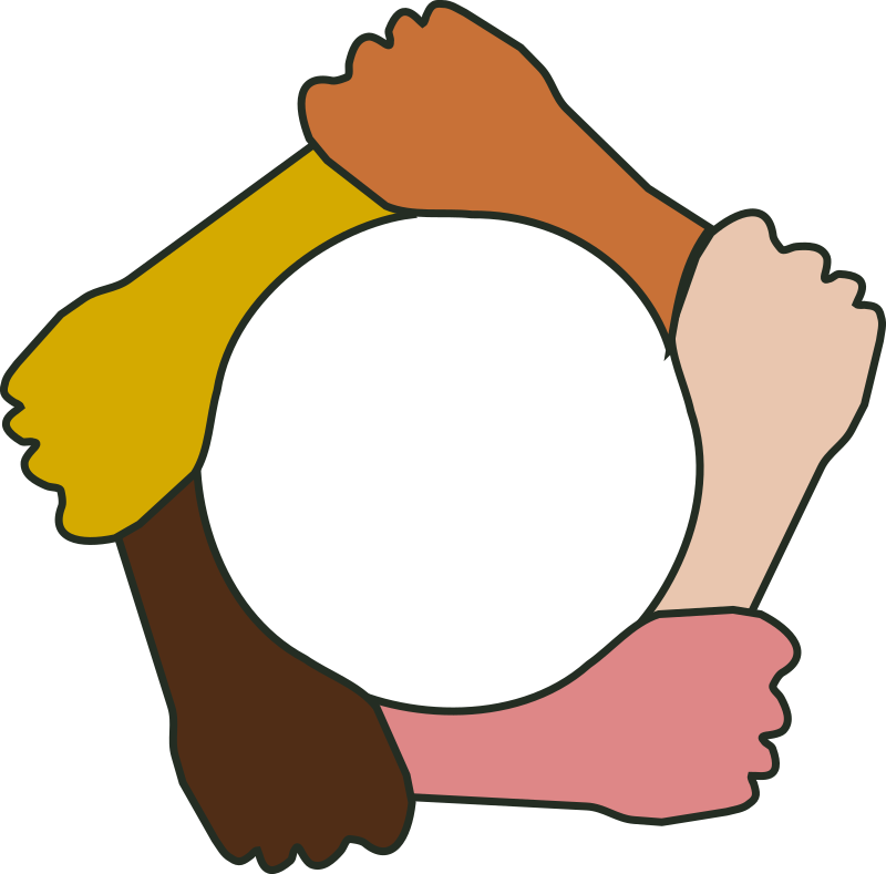 Hands clipart teamwork. Circle of by tavin
