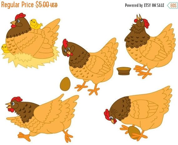 Chicken digital vector farm. Chickens clipart fox